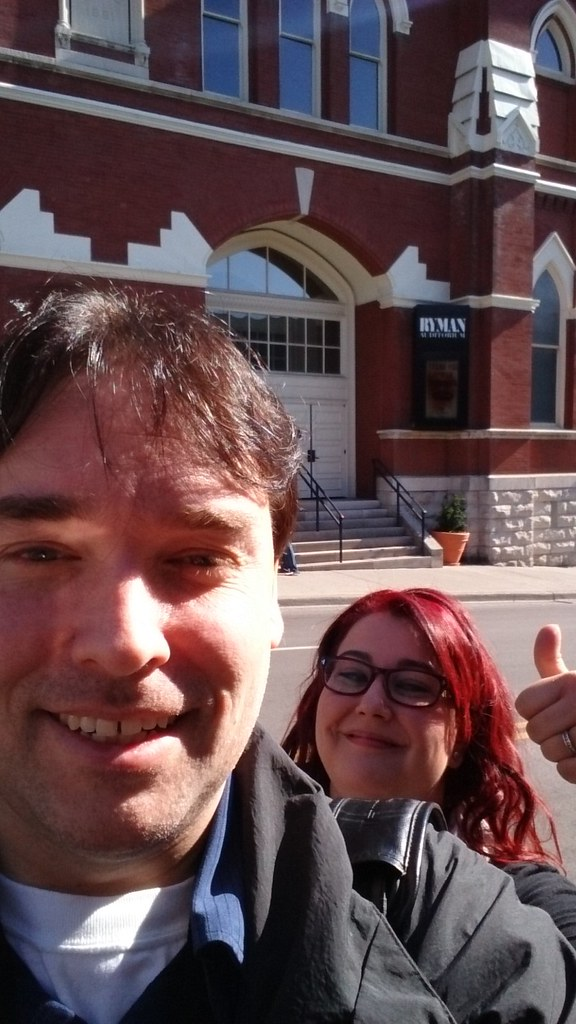 Here we are outside the Ryman