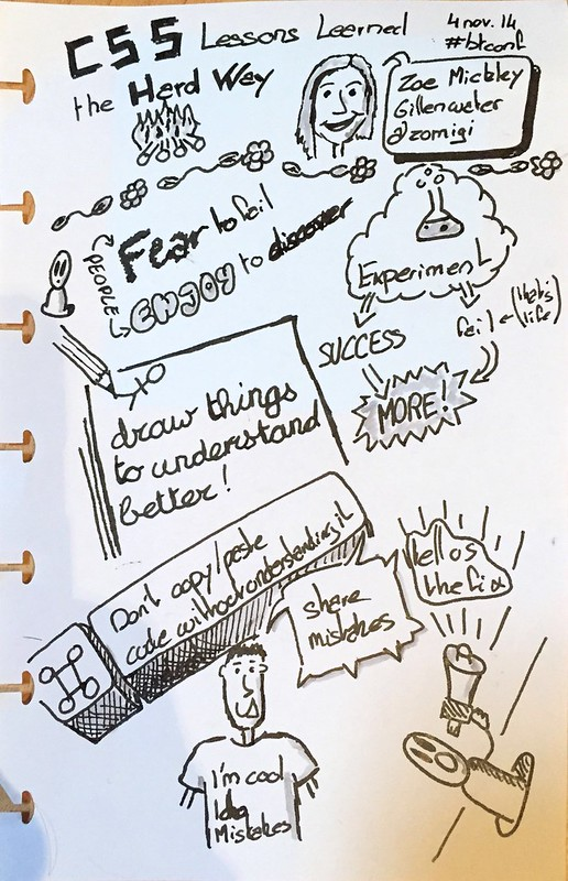 CSS Lessons Learned the Hard Way sketchnote