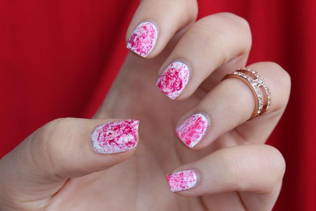 Halloween Nails | Blood Splattered Manicure | #LivingAfterMidnite