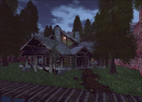 Nighttime at the lodge
