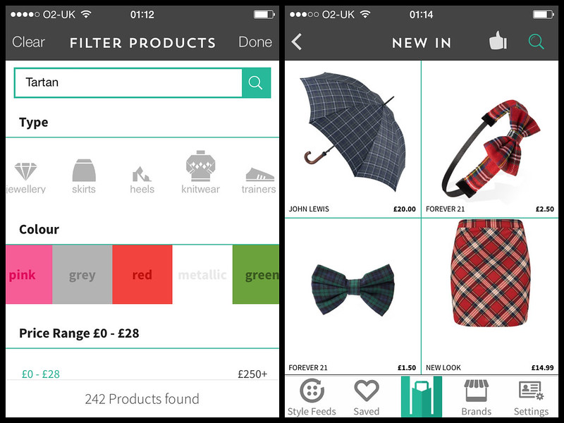 Mallzee, Tartan, Personal Shopping App, iPhone, iPad, iTunes, Mini Skirt, Umbrella, Hair Band, John Lewis, Forever 21, New Look, AW14, Fashion Blog, UK Style Blogger, London