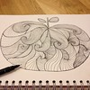 After a manic week it was good to finish drawing this abstract apple. My way of relaxing! #abstract #lines #drawing #pen #sketch #doodle #art #draw #sketching #illustration #pattern