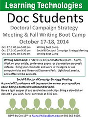 #untLT Doc Student Strategy Meeting - Fall 2014
