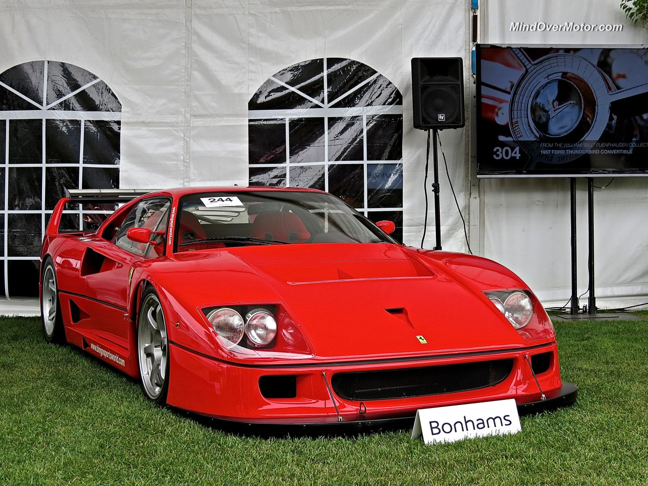 Ferrari F40 LM at Bonhams Auction Pebble Beach