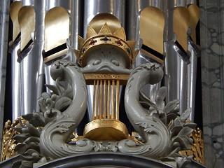 Imagen de Westerkerk cerca de Ámsterdam. detail church face amsterdam closeup comic culture christian crown westerkerk flures