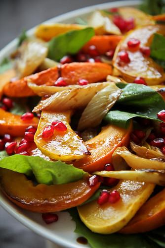 Squash Pomegranate Salad
