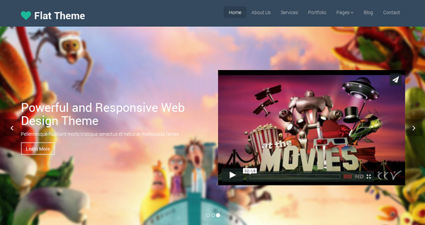 Flat template – Free Responsive Bootstrap Template