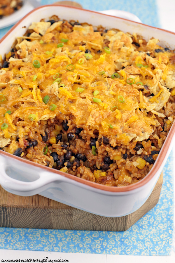 Chicken and Rice Enchilada Bake #dinnerrecipes