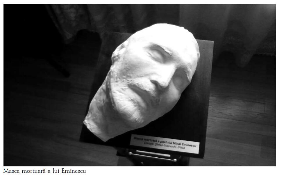 masca mortuara a lui Mihail Eminescu