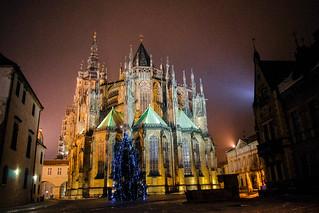 Prague Cathedral at night