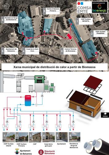COMSA EMTE construye una caldera de biomasa con red de calor para el municipio de Balsareny