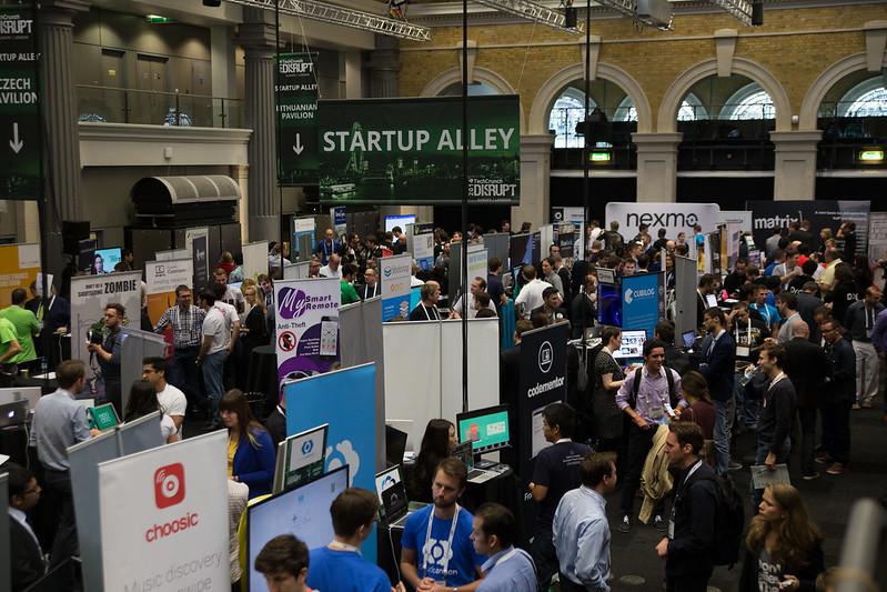 Startup Alley yleiskuvaa