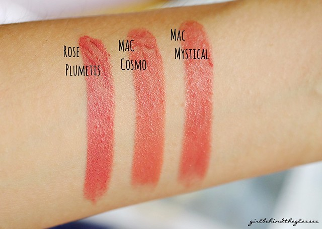 Givenchy Le Rouge Rose Plumetis comparison swatches