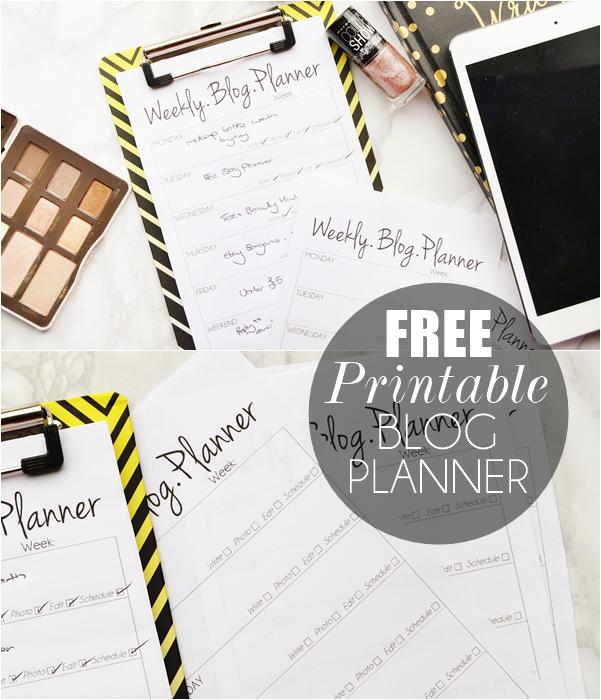 Free-blog-planner-printable
