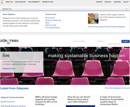 2degrees has built the world's largest online community of sustainability professionals