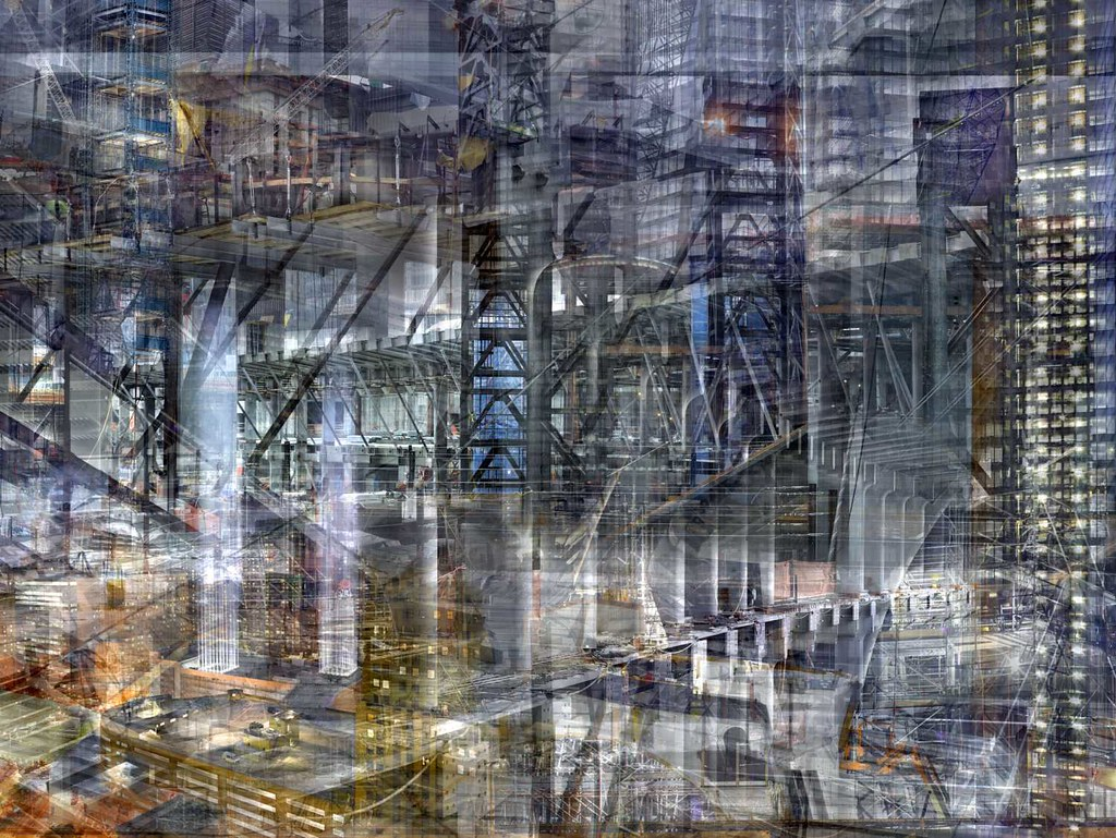 Shai Kremer, World Trade Center: Concrete Abstract no. 16 2011–2012, completed 2012, archival pigment print, 60 x 80