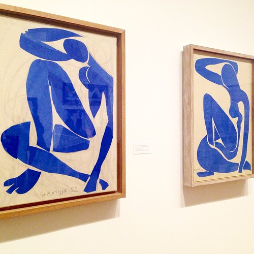 Afternoon with #HenriMatisse at @TheMuseumOfModernArt in #NYC on view until February 2015 - no photography allowed but I had to sneak one #photo of the #BlueNudes because they always have been my #favorites! ================================= #fineartmc #p