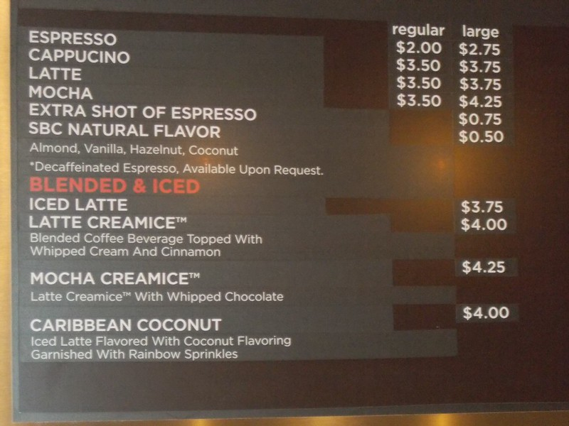 Cafe Two 70 Lunch 2 Menu S Board Pictures Cruise Critic