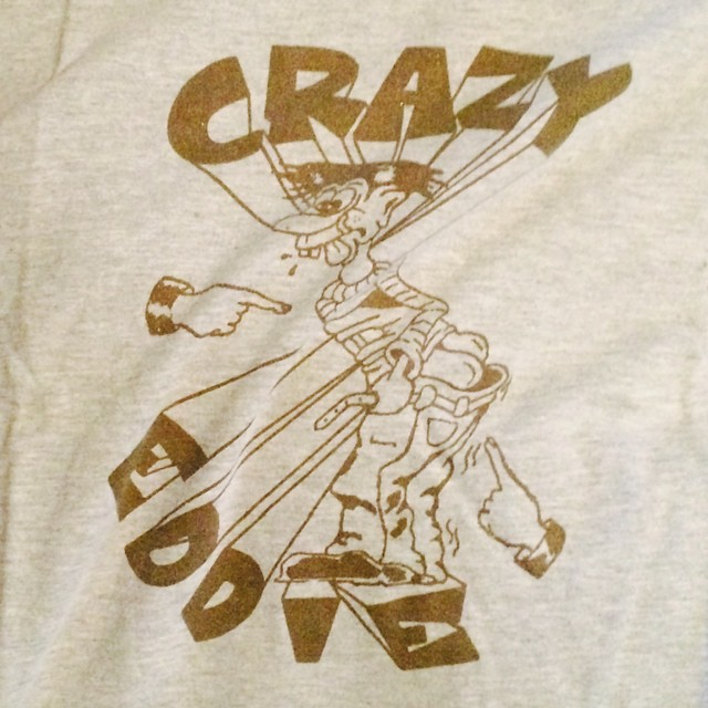 Oh snap what I found in my drawer Old Crazy Eddie T-shirt and not the appliance store let's get wet #nyc #crazyeddie #wood #dust #angelsust #pcp #uptown116st Old acquaintance gave it to me I love the shirt #oldschoolnyc