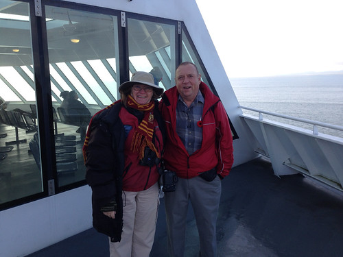 Laura and Ken Kennedy on the ferry to Vancouver Island