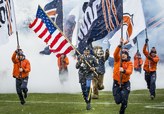 Military service members honored during Chicago Bears game