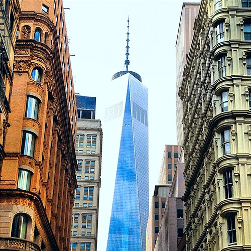 You Hold Me Up- The  Freedom Tower from Fulton St.