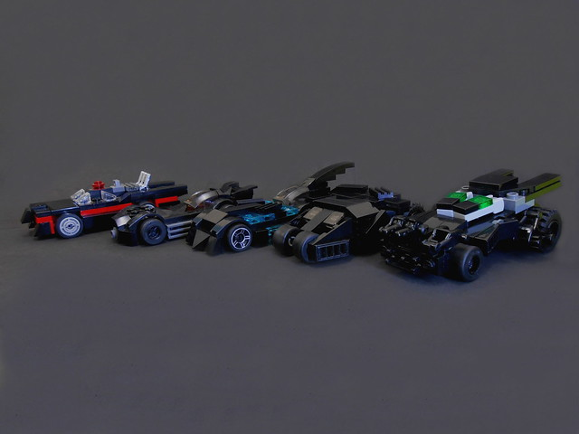 Micro Batmobiles Through The Ages The Brothers Brick