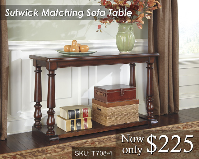 T708-4 Sutwick Matching Sofa Table -- PRICED