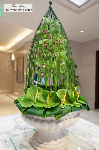 Beautiful, intricate orchid arrangement