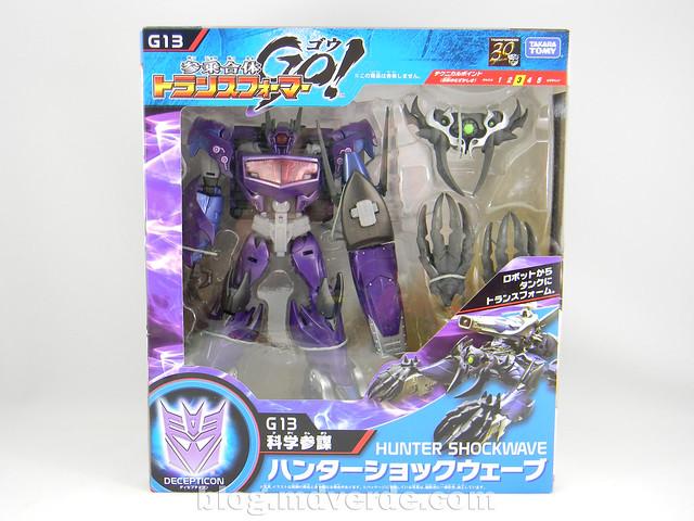 Transformers Hunter Shockwave Voyager - Transformers Go - caja
