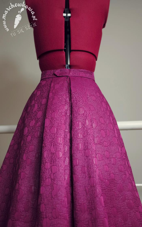 Skirt/Butterick 5605, SilverCrest, Silver Crest, maszyna do szycia z Lidla