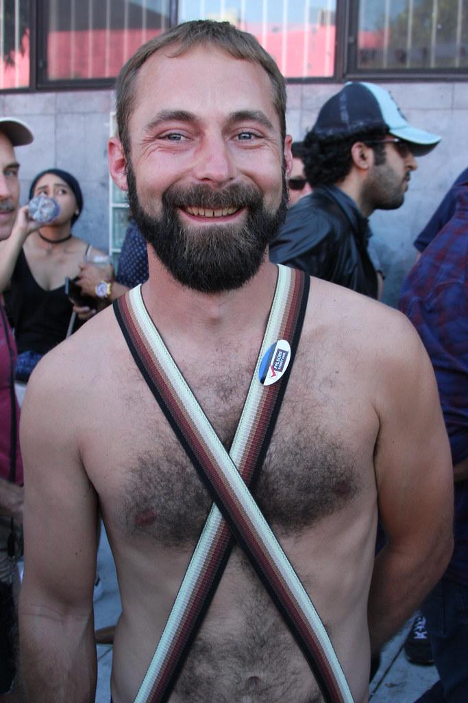 SEXY HAIRY HUNK  ! FOLSOM STREET FAIR 2016 ! ( safe photo )
