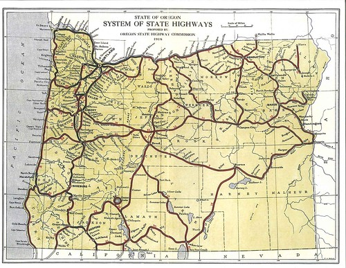 Oregon State Highways 1918