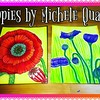 Poppy Postcard Series2/8 #poppies #ArtbyMicheleQuam #ChelMariesCreativeCorner