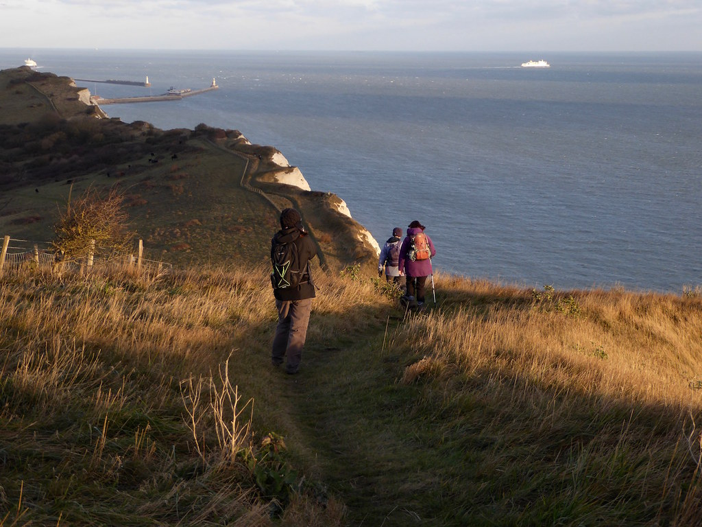 On Shakespeare Cliff Folkestone to Dover walk