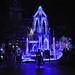 Elsa & Anna on Frozen float in Paint the NIght in Disneyland
