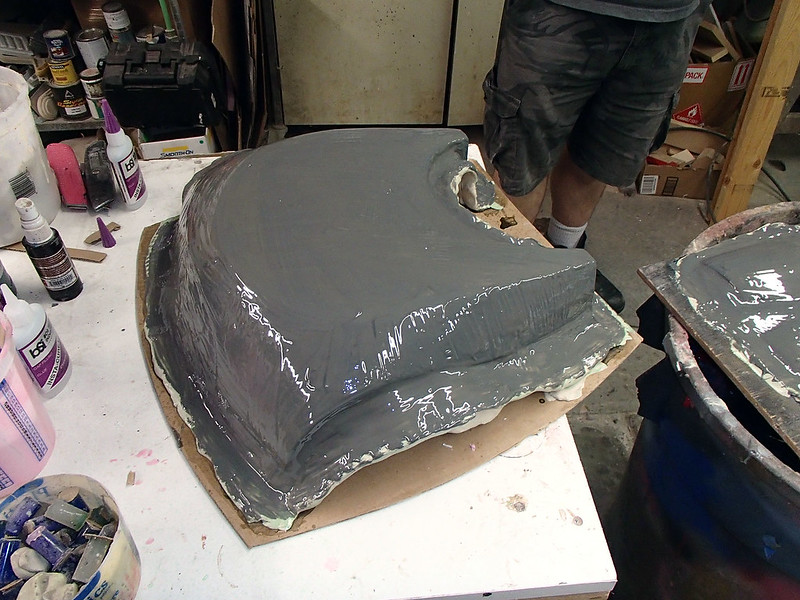 DW Armor Backplate Mold Gelcoat