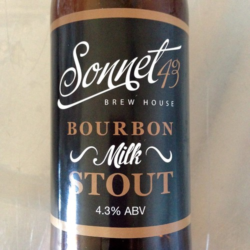 Sonnet 43 Milk Stout. Bourbon Milk Stout. Craft Beer. Real Ale. Ale. Stout. Brew House Coxhoe.