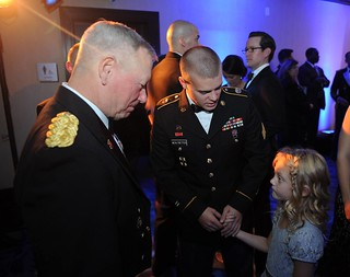 Gen Grass with SGT Mehltretter and daughter Cora Beth