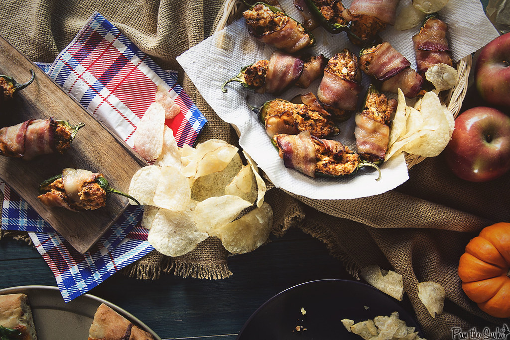 Bacon Wrapped Chorizo Stuffed Jalapeno Poppers || GirlCarnivore.com