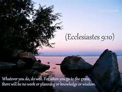 Ecclesiastes 9:10 nlt