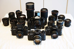 All My Canon F-1 and FD Lenses