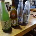 夜も更け…日本酒が出る