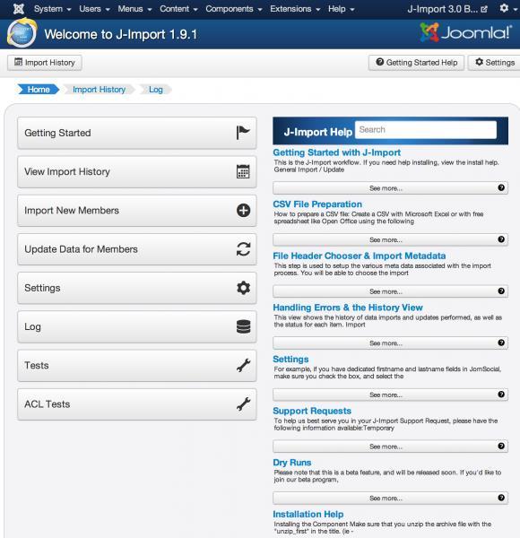 J-Import for Joomla