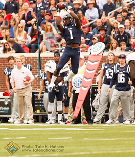 Ole Miss WR Laquon Treadwell making a spectacular catch vs. Ragin' Cajuns