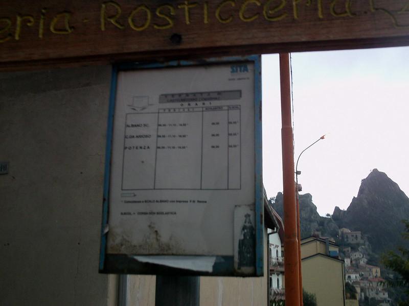 Castelmezzano bus schedule