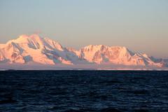 Alexander Island Antarctica, at dawn.