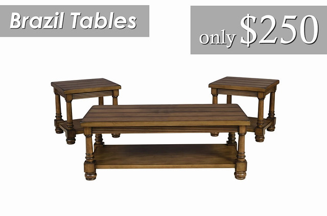 Brazil Tables $250 - priced