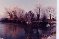 Oakley Bridge in Snow, Oakley, Bedfordshire