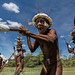 Dani tribe warriors, West Papua, Baliem Valley, Indonesia.  by Joel Santos by Joel Santos - Photography